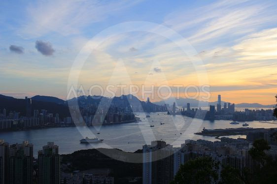 Sunset in Kwun tong district
