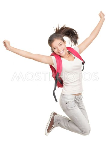 Jumping student