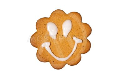 Gingerbread biscuit with smiley