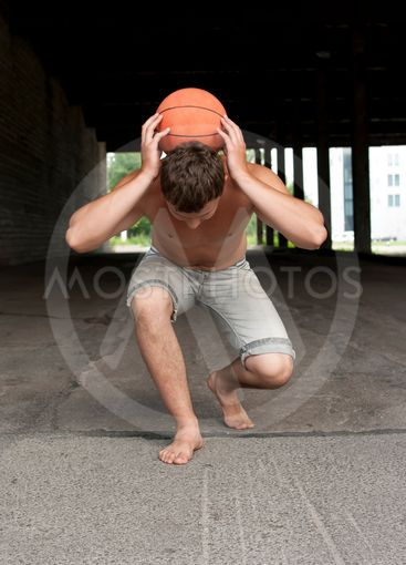 the guy with the ball in the street