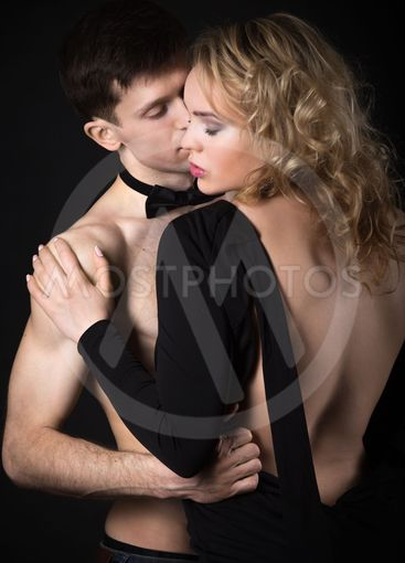 Sexy couple foreplay after party