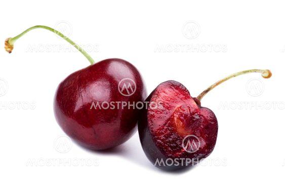 Sweet cherry on white