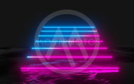 Glowing vertical neon lines, abstract background