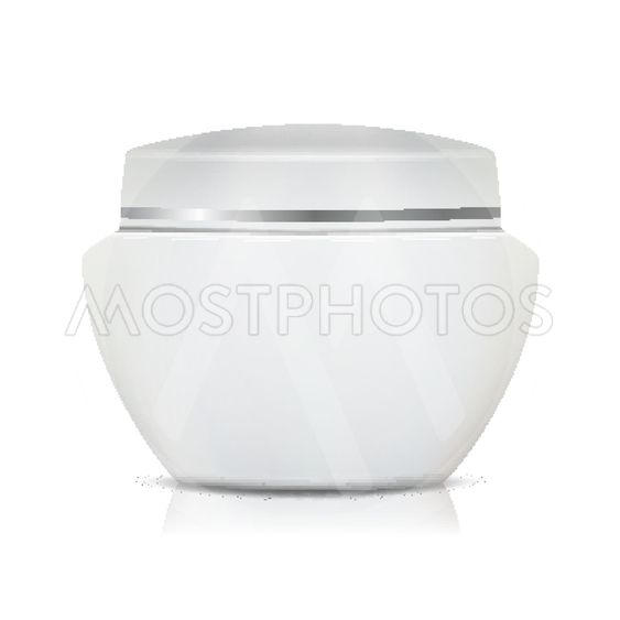 Cosmetic Jar Vector. Template For Your Product Design....