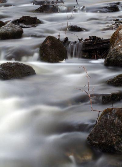 Running water in the stream