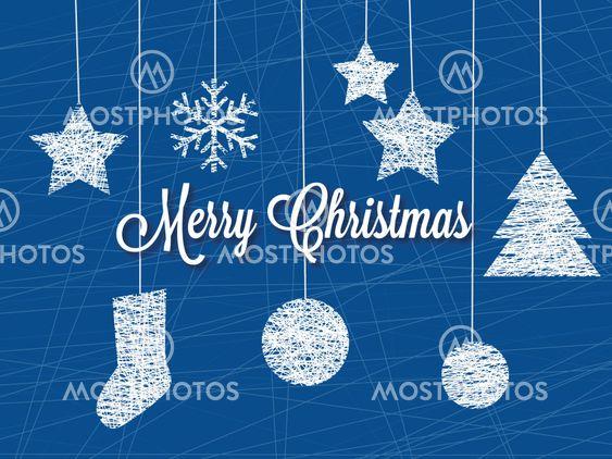Hængende dekoration elementer vektor jul