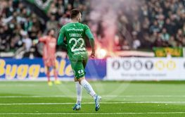 Soccer game between Djurgarden and Hammarby