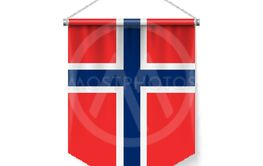 Pennant Flag Icon of Norway