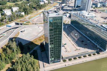 Aerial view of Kone corporation headquarter building
