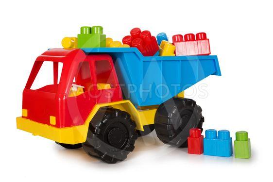 Multicolored plastic toys