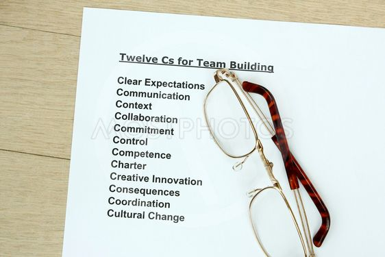 Twelve Cs for teambuilding