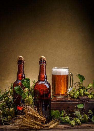 Still life of beer