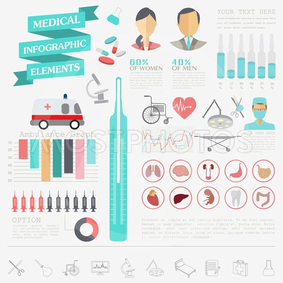 Medical and healthcare infographic, elements for creating...