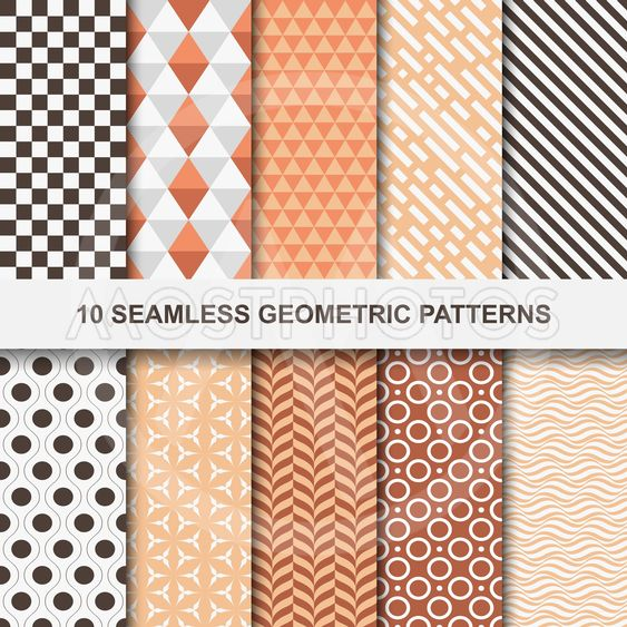 Vector geometric patterns - seamless.