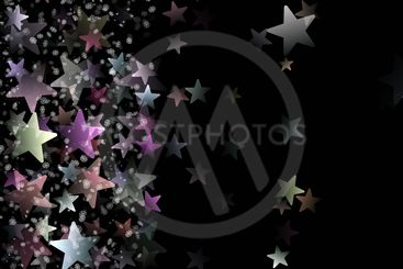 Wonderful Christmas background design with stars and...
