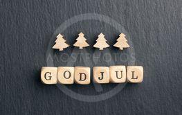 God Jul, Scandinavian Merry Christmas with Christmas...