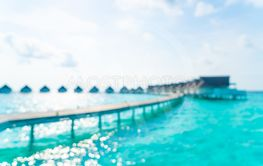 Abstract blur tropical beach and sea in Maldives for...