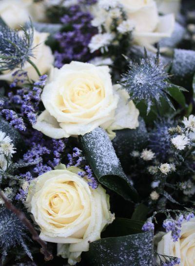 white rose flower arrangement
