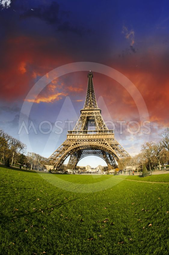 Colors of Eiffel Tower in Paris