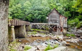 Glade Creek Grist Mill at Babcock State Park, West Virginia