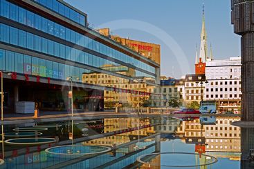 Stockholm City reflections.