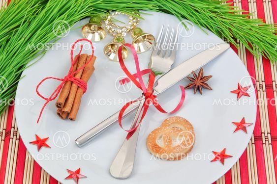 Keittiö järjestely joulu esineitä.