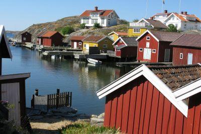 Sjöbodar Hälleviksstrand Bohuslän