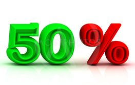 50  PERSENT business icon discount green and red