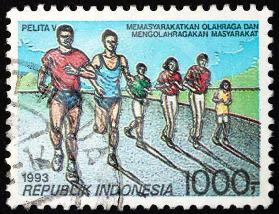 Postage stamp Indonesia 1993 runners