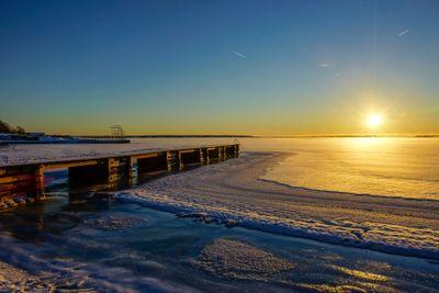 Winter in Karlskrona archipelargo