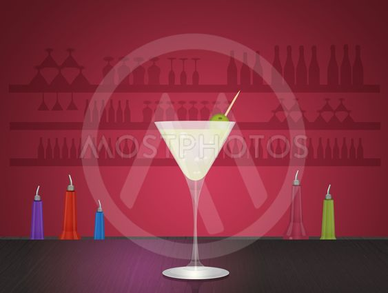 an alcoholic cocktail