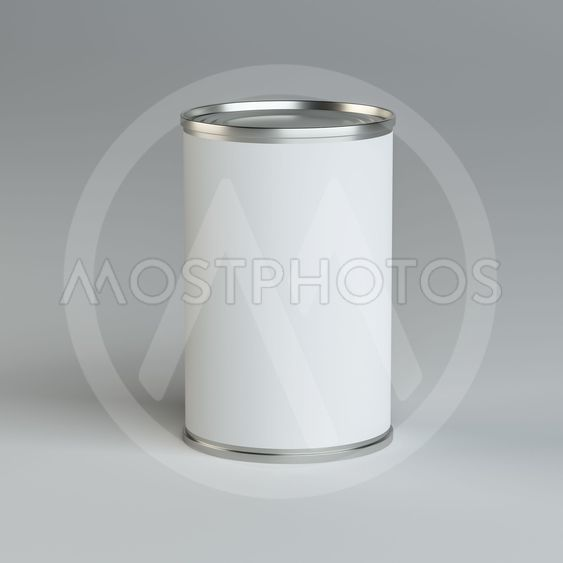 Close-up white tin can