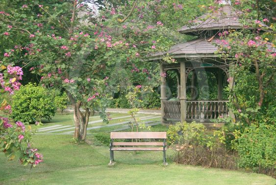 small pavilion in park