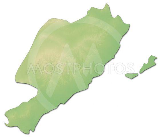Relief map - Sfax (Tunisia) - 3D-Rendering