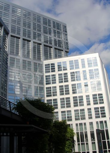 Office building in business district of the city