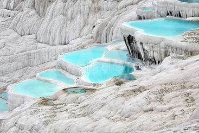 Travertine pools