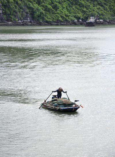 Fishermen in Halong Bay