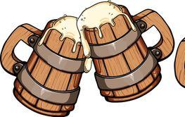 beer wooden mug