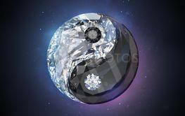 diamond yin yang