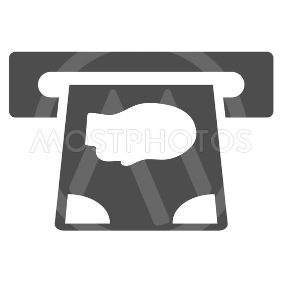 ATM Payment Flat Vector Icon