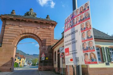 Poster for upcoming local elections