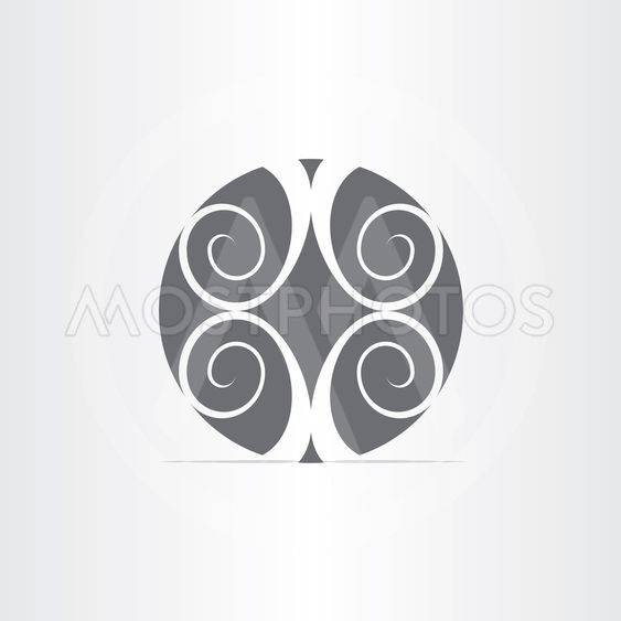 abstract floral circle icon