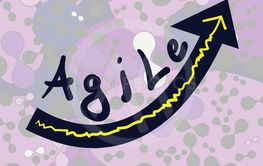 Background with word Agile