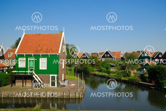 Old Dutch Houses In Marken By Eric Gevaert Mostphotos