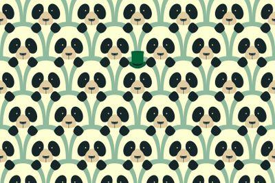 Panda seamless cartoon pattern