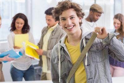 Fashion student smiling at camera