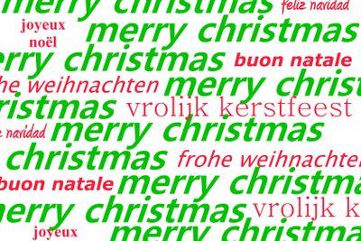 Multiple language Christmas greeting
