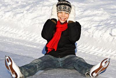 Winter Girl ice skating