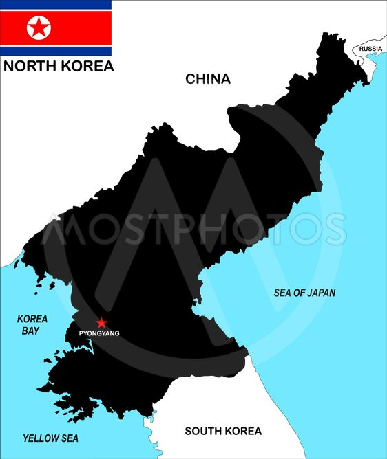 Nordkorea Karta Av Tudor Antonel Adrian Mostphotos