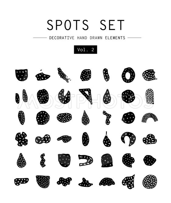 Set decorative hand drawn elements